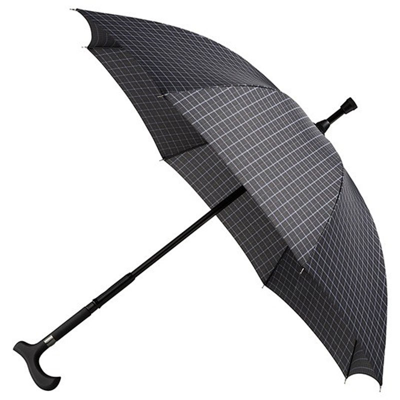 Specialty Walking Stick Umbrella - Checked