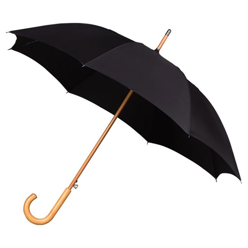 windproof walking umbrella / cheap black umbrella