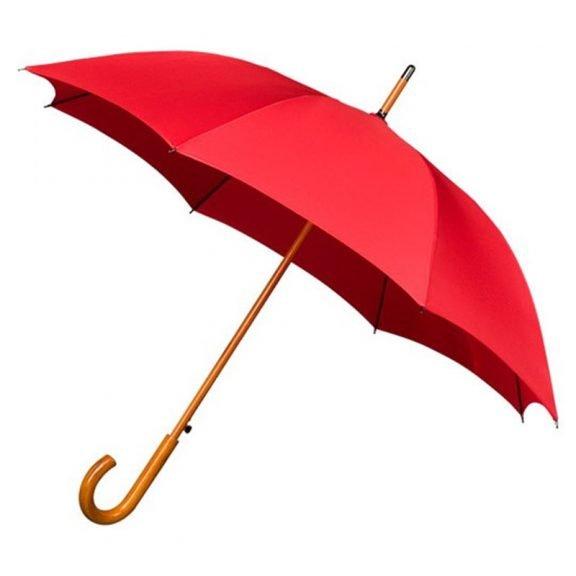 red windproof walking umbrella
