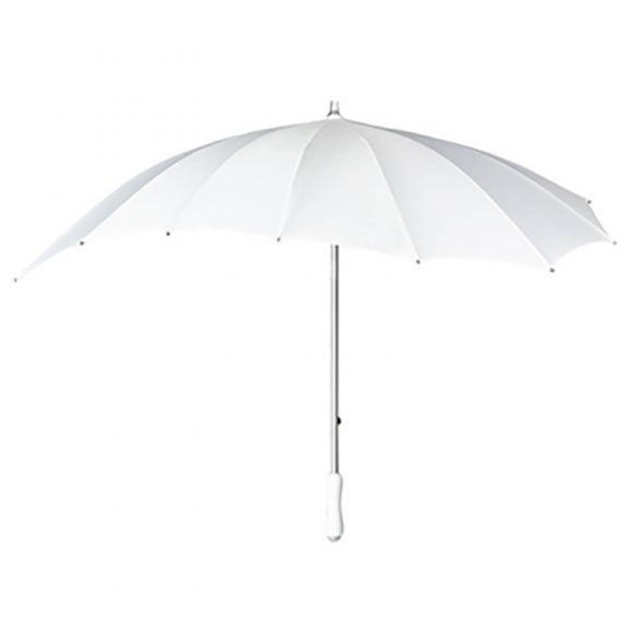 white heart umbrella