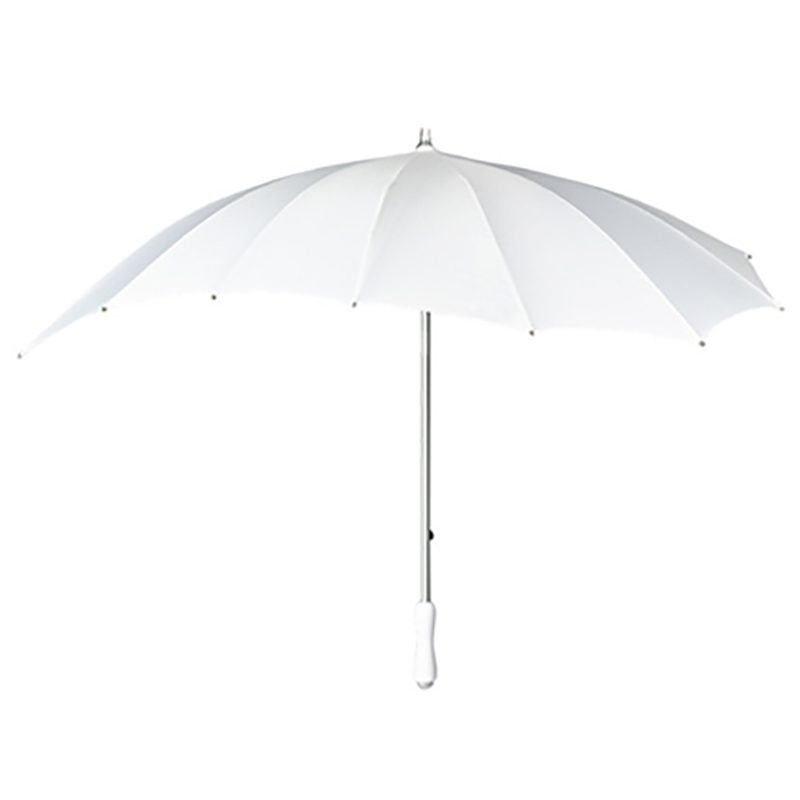 white heart umbrella