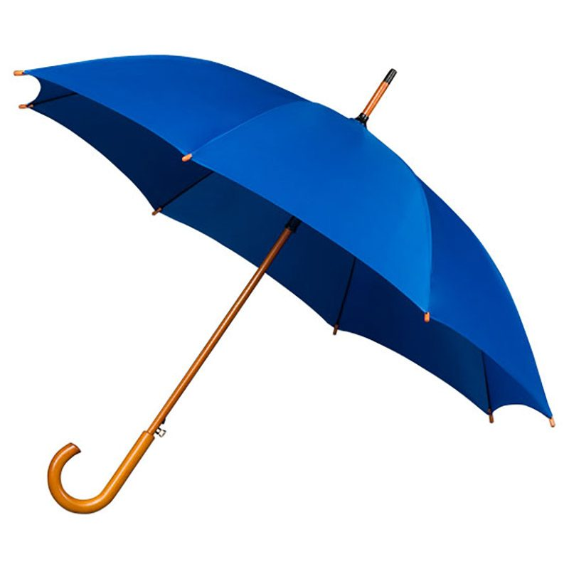Wood Stick Umbrella - Blue