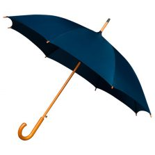 Navy umbrella wood stick