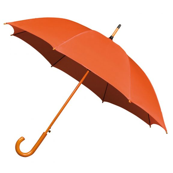 Wood Stick Umbrella - Orange umbrella
