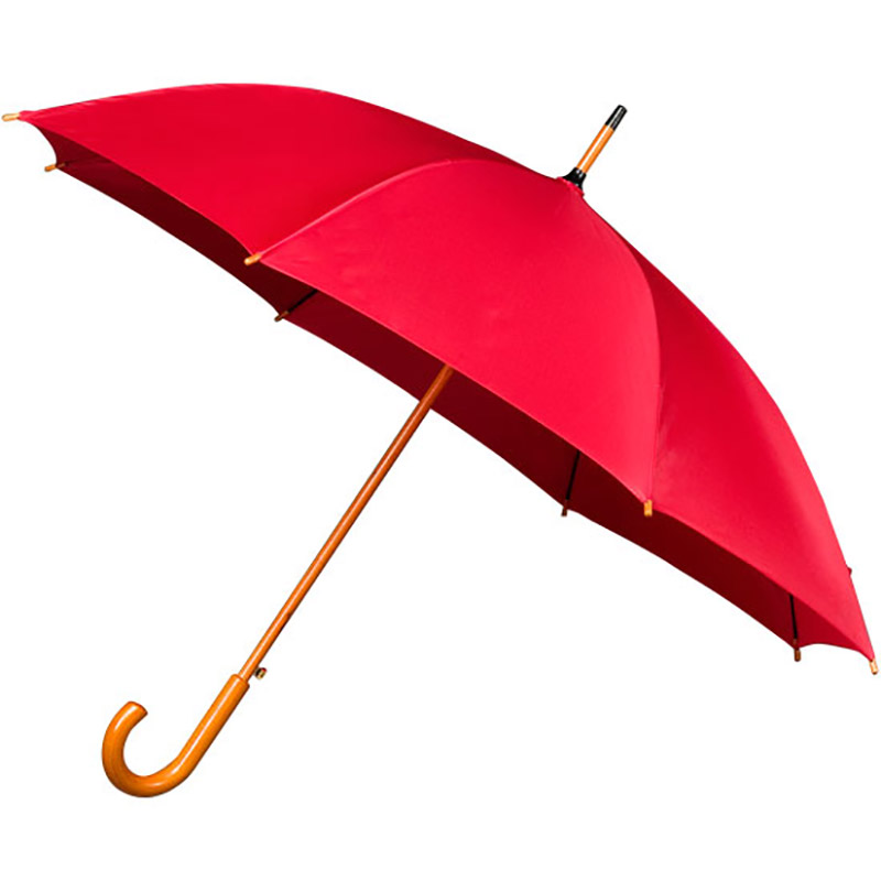 Red Wood Stick Wooden Umbrella Other