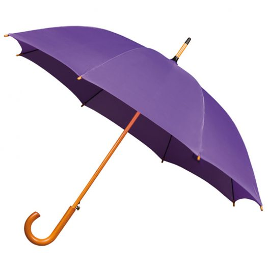 Wood Stick Purple Umbrella