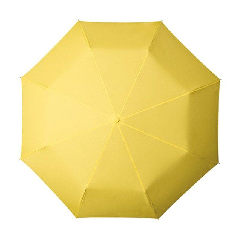 yellow folding umbrella
