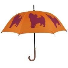 Yorkshire Terrier Dog Umbrella - Orange & Purple