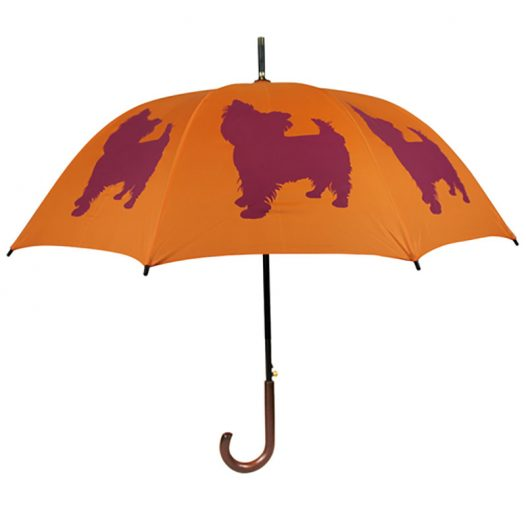 Yorkshire Terrier Dog Umbrella - Orange & Purple