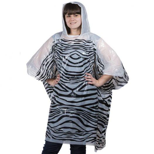 Emergency Rain Poncho - Zebra 1