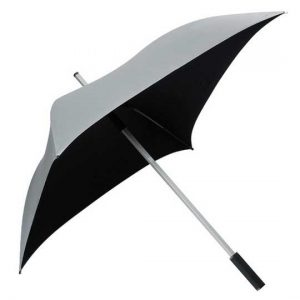 Square Golf Umbrella - Silver UV Protective