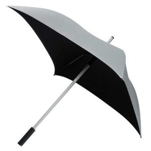 Square Sun Umbrella / Silver UV Protective Golfing Umbrella