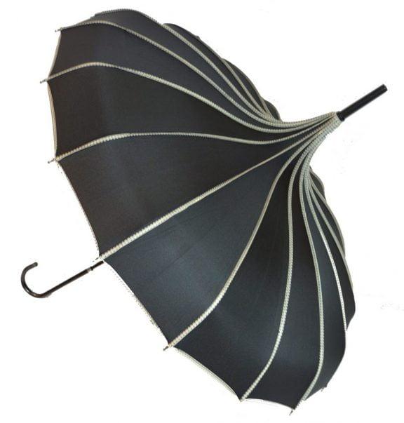 Pagoda Umbrella - Princess - Black