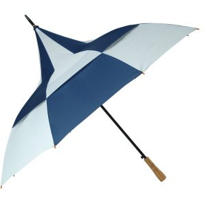 Big Top Umbrella - Blue and White