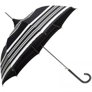 black white striped pagoda umbrella