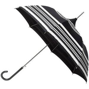 white / black striped umbrella pagoda