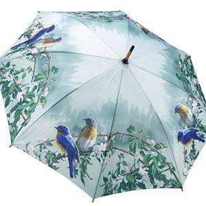 Hautmans Blue Birds Stick Umbrella