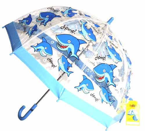kids clear dome umbrellas childrens pvc shark umbrella