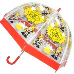 Childrens PVC Fireman Umbrella