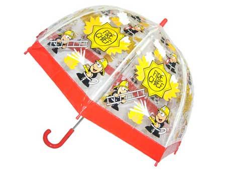 Childrens PVC Fireman Umbrella