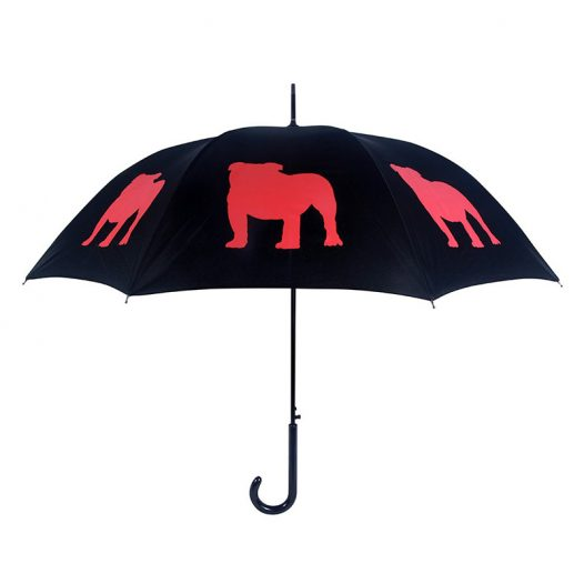English Bulldog Umbrella - Black & Red