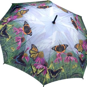 Butterfly Mountain Stick Umbrella