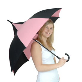 Candice pink and black pagoda Umbrella