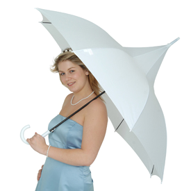 Classic White Pagoda Best Wedding Umbrella