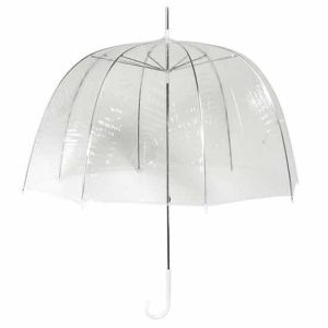Clear Dome Umbrella - Manual Opening