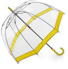 Clear Dome Umbrella Yellow Trim