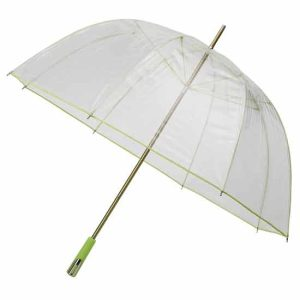 See Through Deluxe Umbrella - Green (Golf Sized)