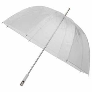 See Through Deluxe Umbrella - White (Golf Sized)