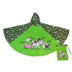 Kids Rain Poncho - Farmyard