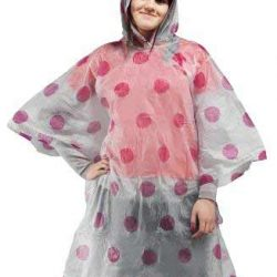 Reusable Poncho - Pink Spots
