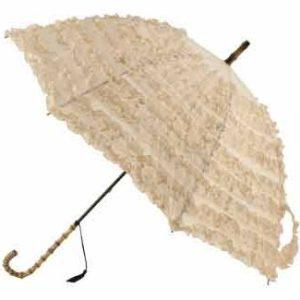 FiFi Frilled Parasol, Creme
