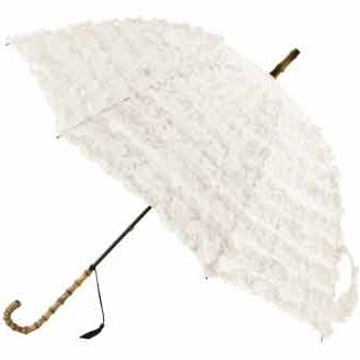 fifi frilled wedding parasol blanc umbrella heaven. Black Bedroom Furniture Sets. Home Design Ideas