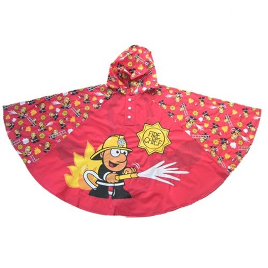 Fireman Cartoon Poncho