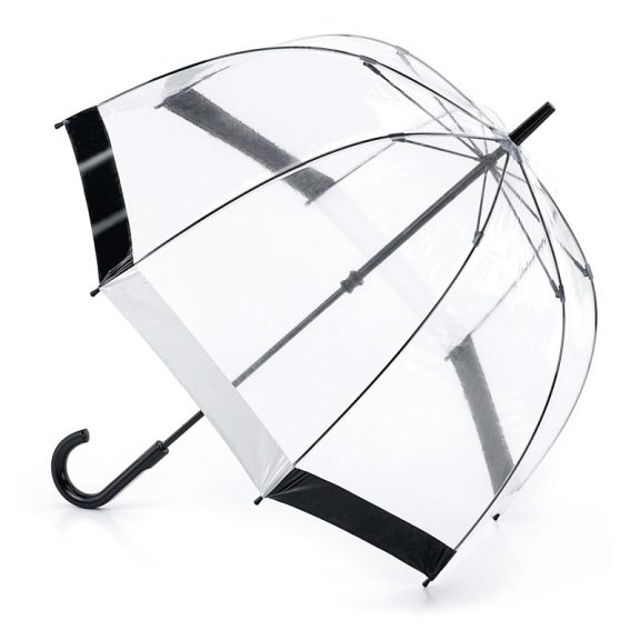 Fulton Birdcage Black and white dome Umbrella