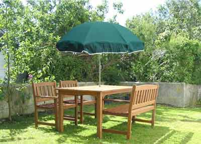 Green Garden Parasol - Forest Green