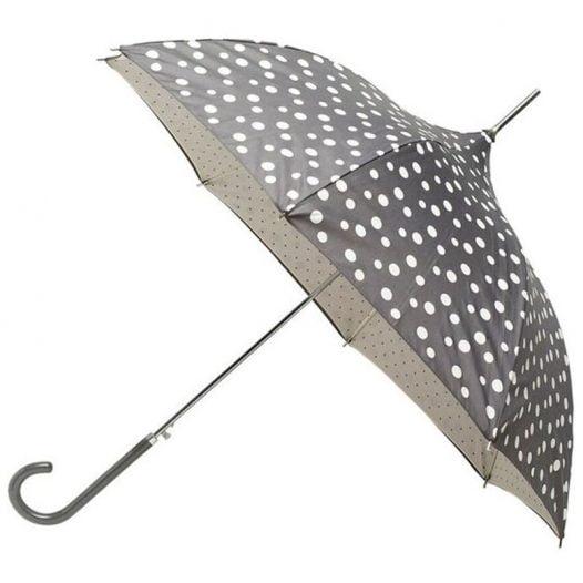 grey bubbly dot pagoda umbrella