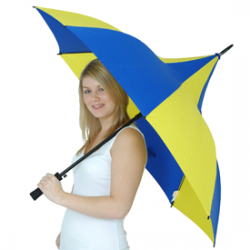 Happy Days Blue and Yellow Umbrella