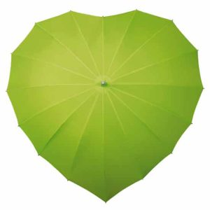 Heart Umbrella - Lime Green