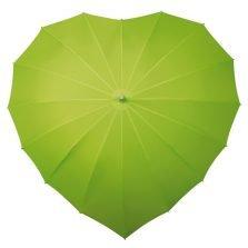 Lime Green Heart Umbrella