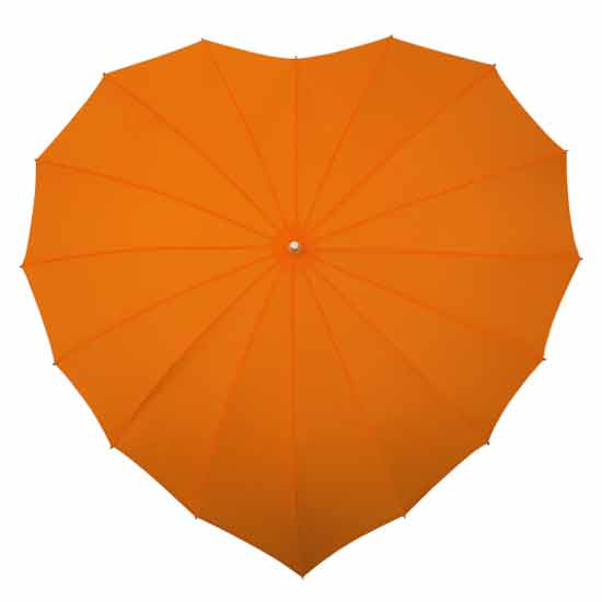 Orange Heart Umbrella