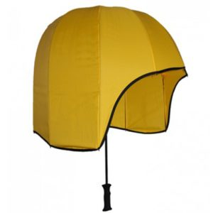 Helmet Shaped Sport Umbrella - Yellow