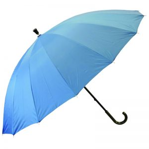 high quality walking umbrella peacock blue