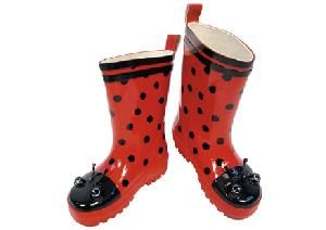 Kidorable Ladybird Rain Wellington Boots