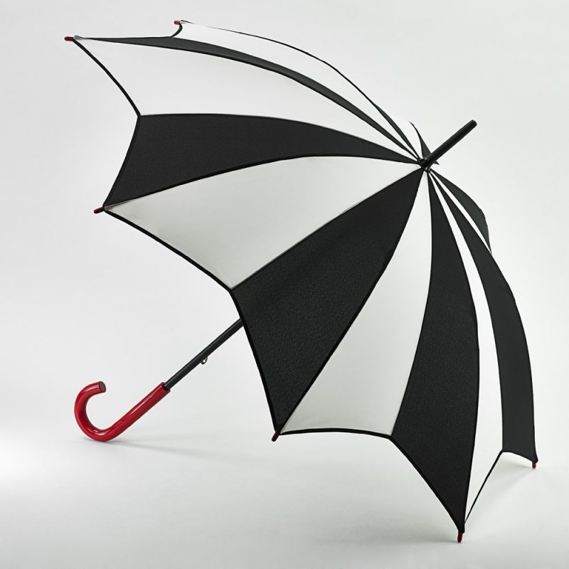 LuLu Guinness Kensington Harlequin Black and White Star Umbrella