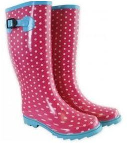 Ladies Festival Wellington Boots - Pink