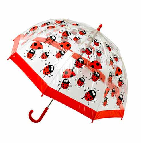 children's PVC ladybird umbrella